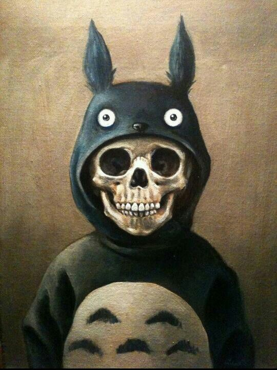 skull rabbit | cool pics | Pinterest | Awesome, Totoro and ...