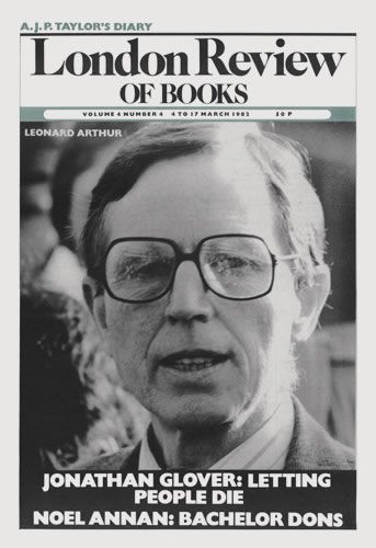 London Review of Books. 4 March 1982.