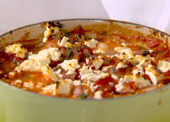 Baked Shrimp with Tomatoes and Feta from Ellie Krieger. This is an old ...