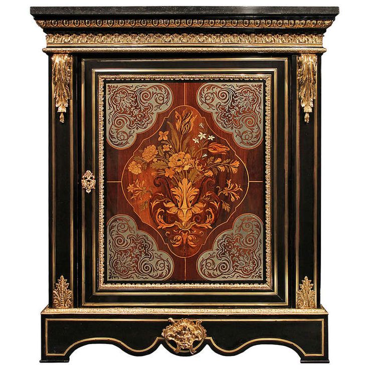A French Mid 19th Century Louis XIV Style Boulle Cabinet | From a unique collection of antique and modern cabinets at http://www.1stdibs.com/furniture/storage-case-pieces/cabinets/