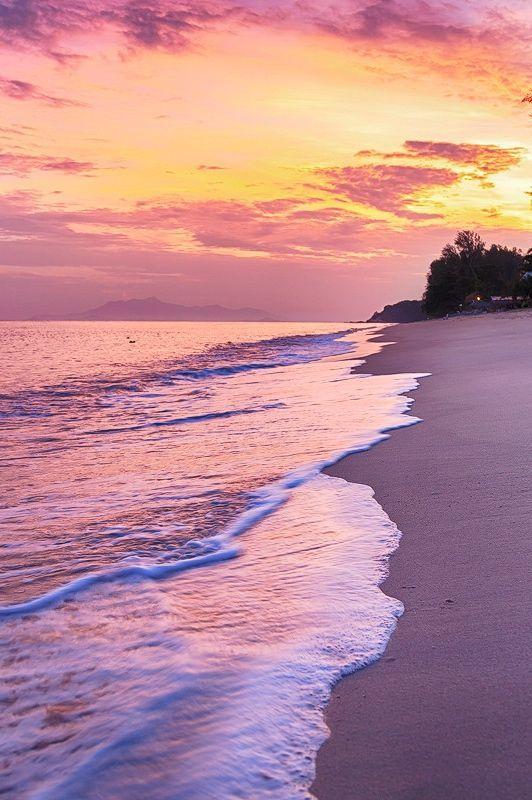 Penang Beach, Malaysia.