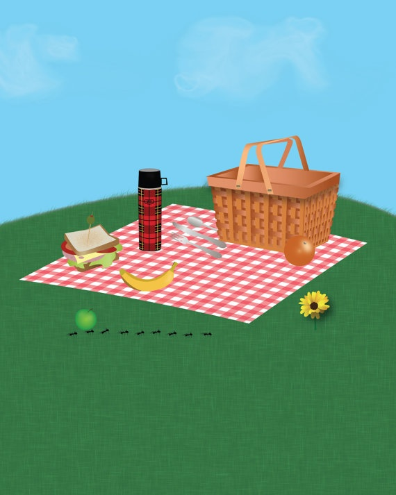 Picnic basket graphic : Images about picnic on picnics summer