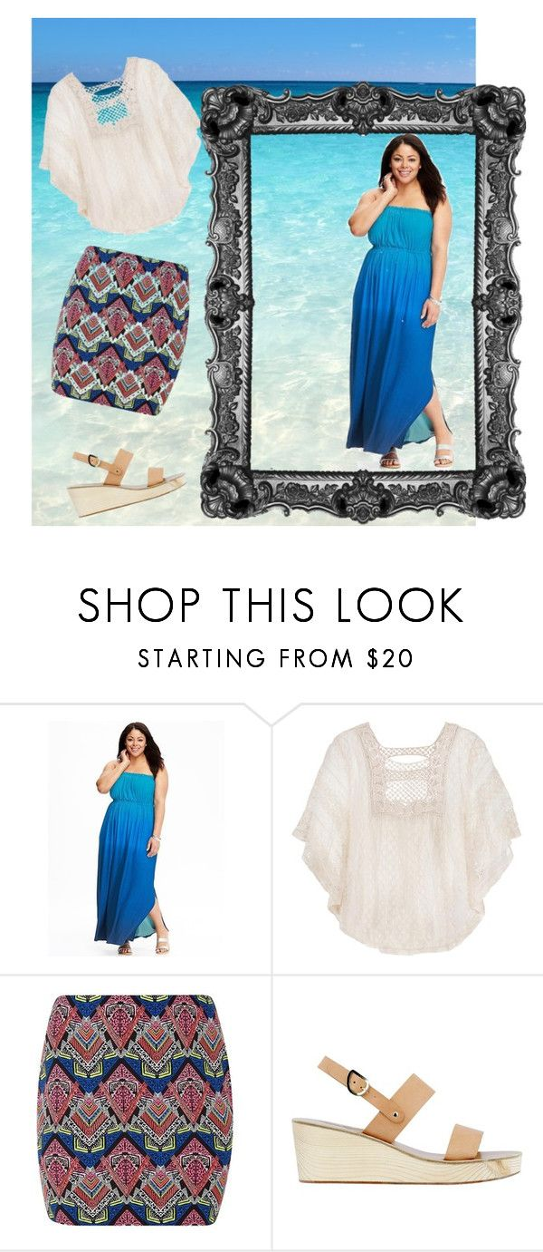 """Greek colours"" by jajalamajala ❤ liked on Polyvore featuring Old Navy, maurices and Ancient Greek Sandals"