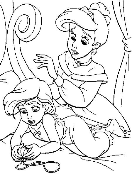 Ariel Entertaining Son Coloring