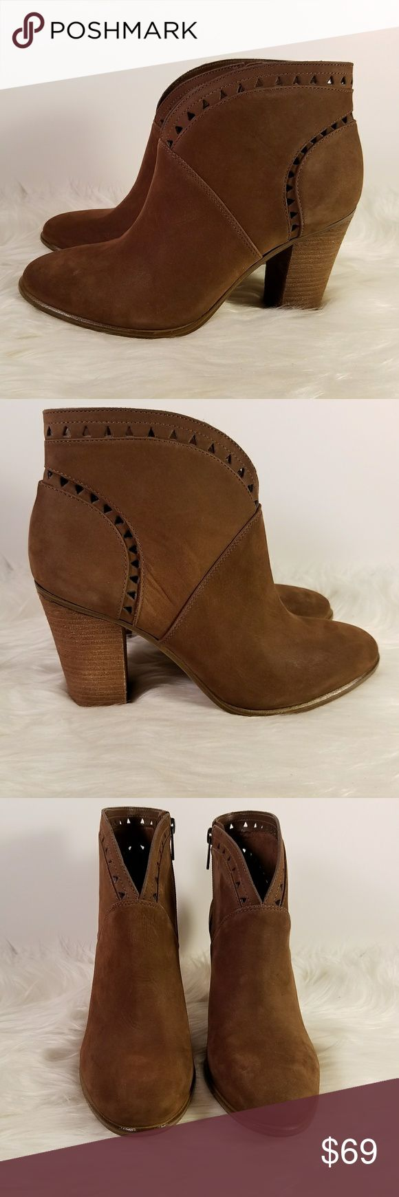 """NWB Vince Camuto Leather Fritan Ankle Booties This is a new pair of Vince Camuto leather booties.  Features:  - stacked approximately 3 1/2"""" heel  - approximatley 4"""" shaft  - side zipper  - leather uppers New, unworn boots in box, no retail tags  5txxafij/ei Vince Camuto Shoes Ankle Boots & Booties"""