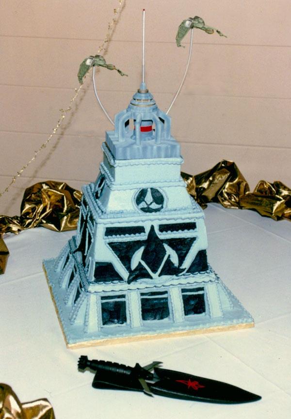 Klingon Great Hall Wedding Cake Nerdy Wedding Cakes Geek Wedding Cake Nerd Wedding Cake