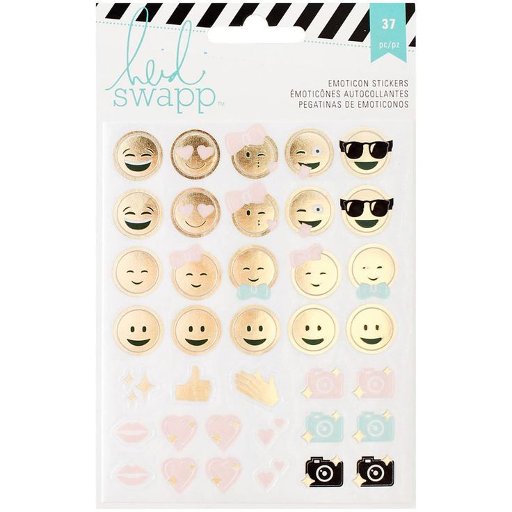 37 Piece Emoticon Stickers for Scrapbooks or Heidi Swapp Memory Planners