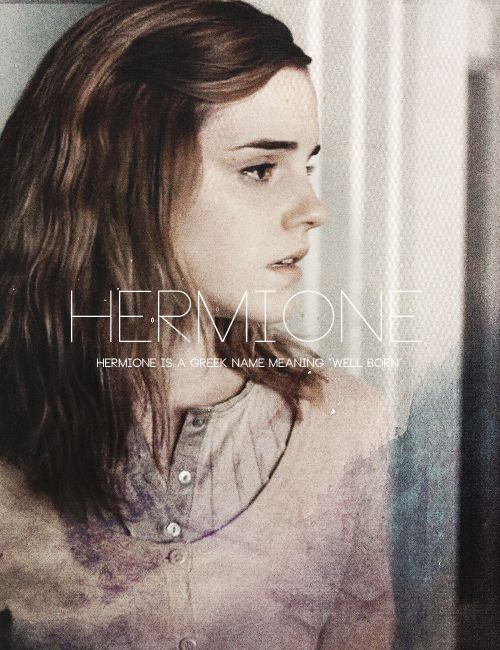 """ What's in a Name? → Golden Trio "" -- Hermione"