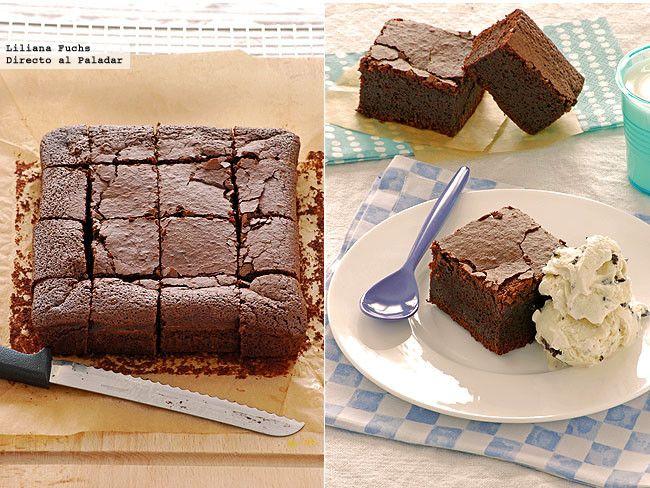 Brownies dos chocolates con cerveza negra