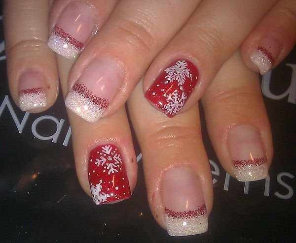 Nails Art: 10+ Ideas About Red Christmas Nails On Pinterest