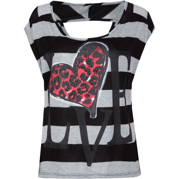 FULL TILT Animal Heart Womens Boxy Tee (220 MXN) ❤ liked on Polyvore featuring tops, t-shirts, shirts, blusas, graphic tees & tanks, women, animal t shirts, heart shirt, animal print t shirts and animal print shirts