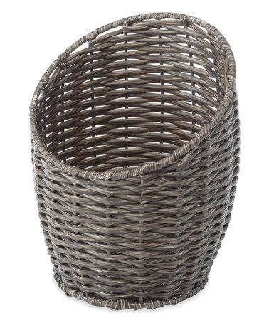 Another great find on #zulily! Gray Diagonal Opening Basket #zulilyfinds
