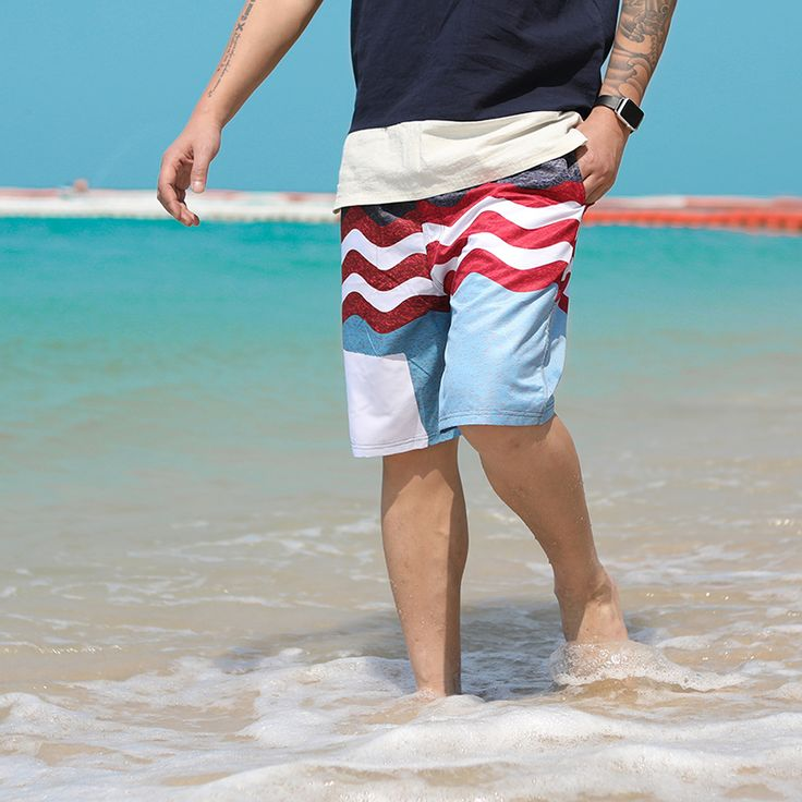 Summer For Man Beach Shorts Breathable Comfort Hot Sale Mens Board Swimming Shorts Waist Loose Drawstring Plus Size Swimwear