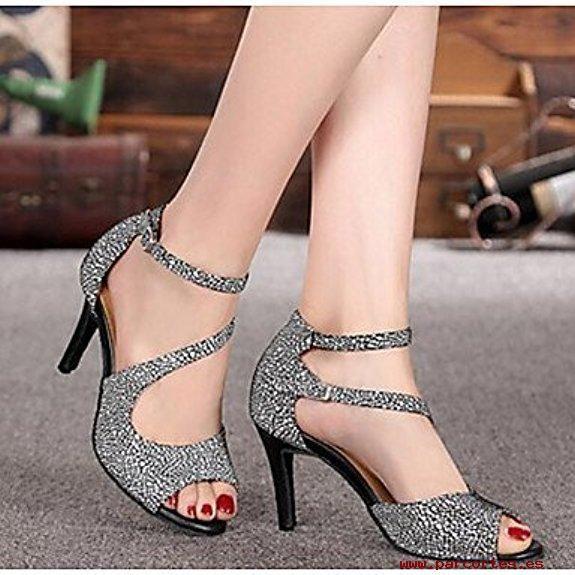 lo último 39294 131ed Lindos Zapatos Punta Abierta Taco Medio   Variedad de ...