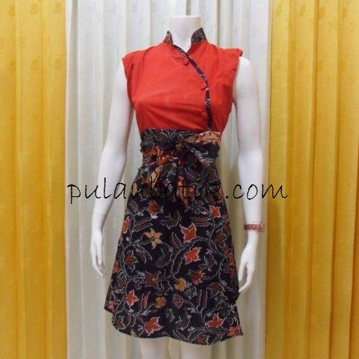 dress batik cantik murah db160