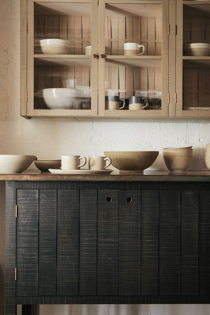 Rustic beauty; our new deVOL Kitchenware Collection look so beautiful with our Sebastian Cox Kitchen furniture
