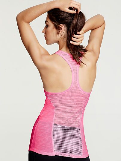 NEW Mesh Back Tank by Victoria Secret Sport. I LOVE the pink!!