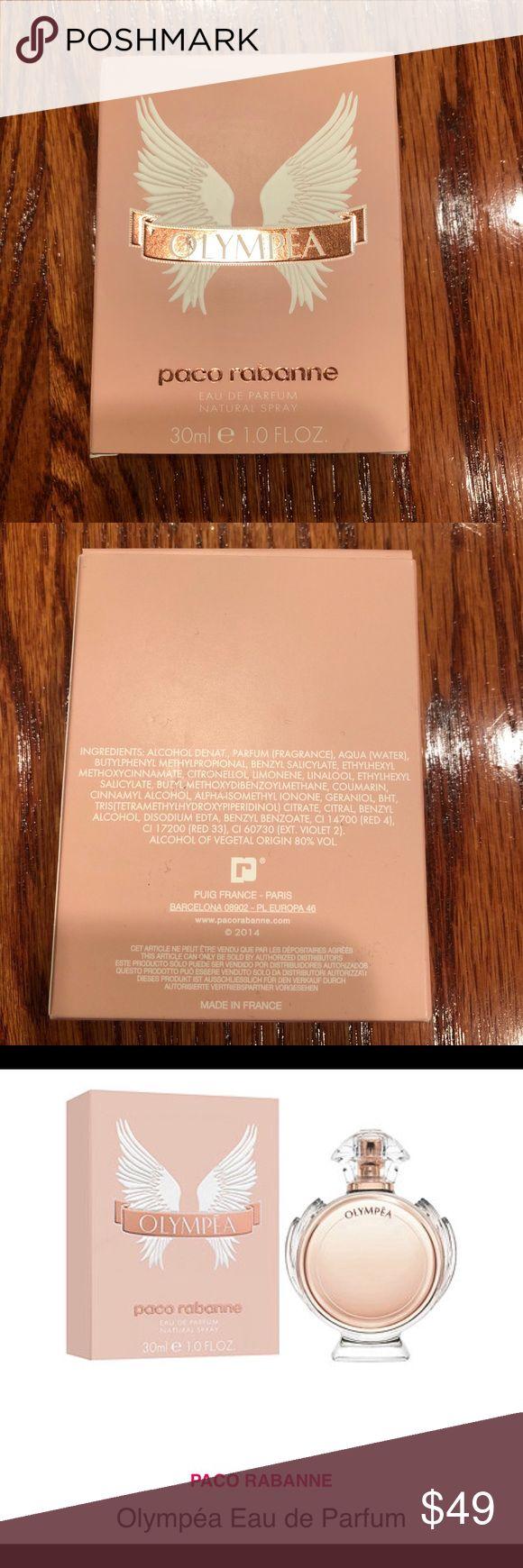 Paco Rabanne Olympea Eau De Parfum 1 fl oz Paco Rabanne Olympea Eau De Parfum 1 fl oz.  New (not sealed in plastic) Paco Rabanne Makeup