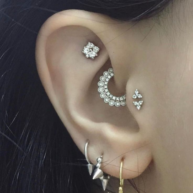 "1,096 Likes, 17 Comments - Maria Tash (@maria_tash) on Instagram: ""✨ We always love seeing a creative style like @blackandwhitenomad's ear! With a beautiful Apsara-…"""