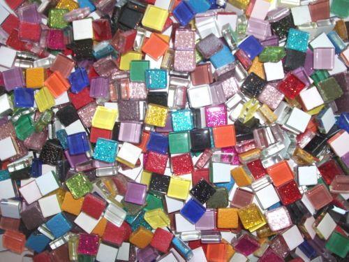 Mini Crystal Tiles 10x10mm - Rainbow mix 400pc by MosaicStudio1 on Etsy