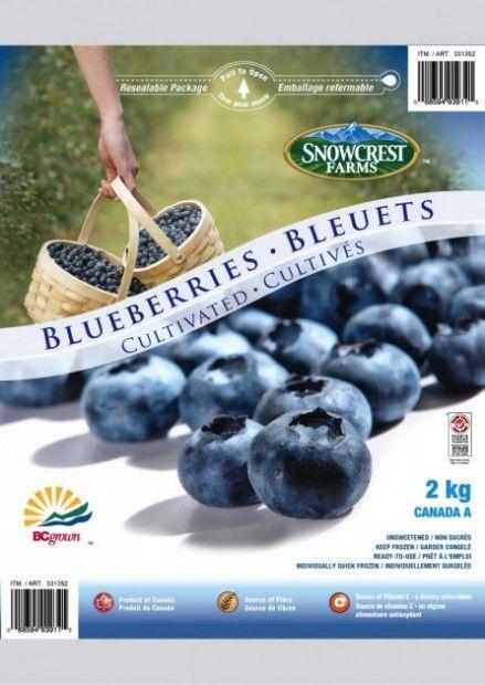 Blueberries Package Snowcrest - Costco