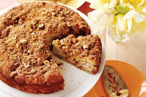If you've got overnight guests for Canada Day, our Rhubarb Coffee Cake is an amazing pick for brunch. #canadaday -- plus you use up some rhubarb!