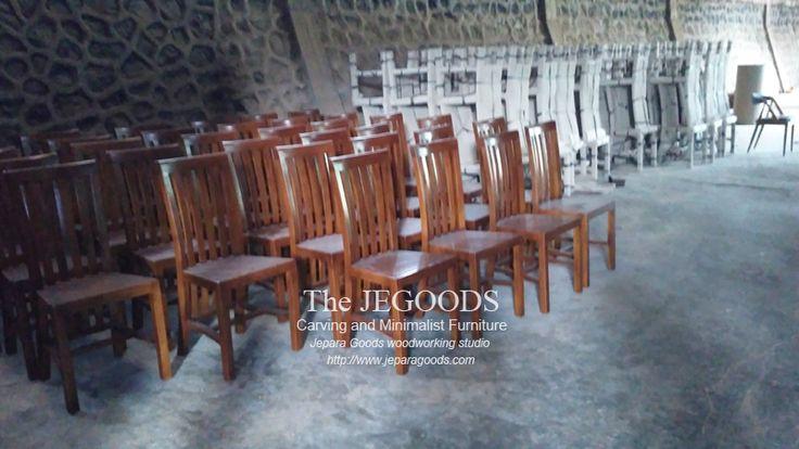 Ready Stock Kursi Restoran Minimalist Teak Balero Dining Chair