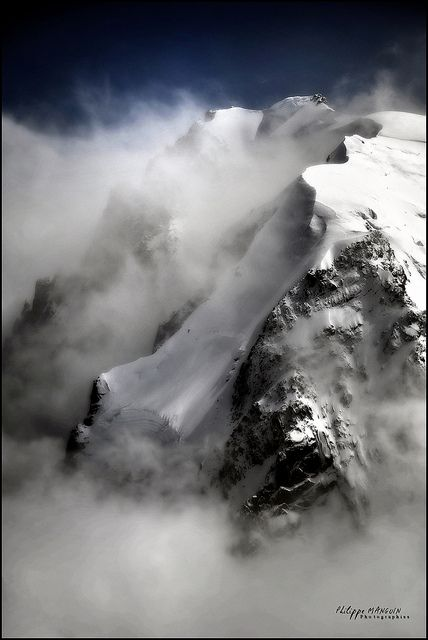 Mont blanc du tacul - french alpes by philippe MANGUIN photographies, via Flickr