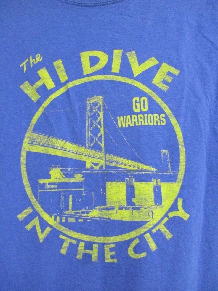 Golden State Warriors SF Dive Bar Men's 2xl Shirt HI Dive In The City RARE #Hanes #GraphicTee