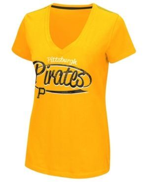 G3 Sports Women's Pittsburgh Pirates Away Game T-Shirt - Gold