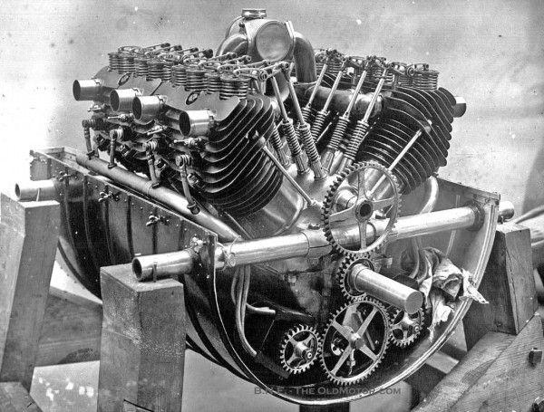 1908 Fiat 50 HP OHV V-8 Aircraft Engine