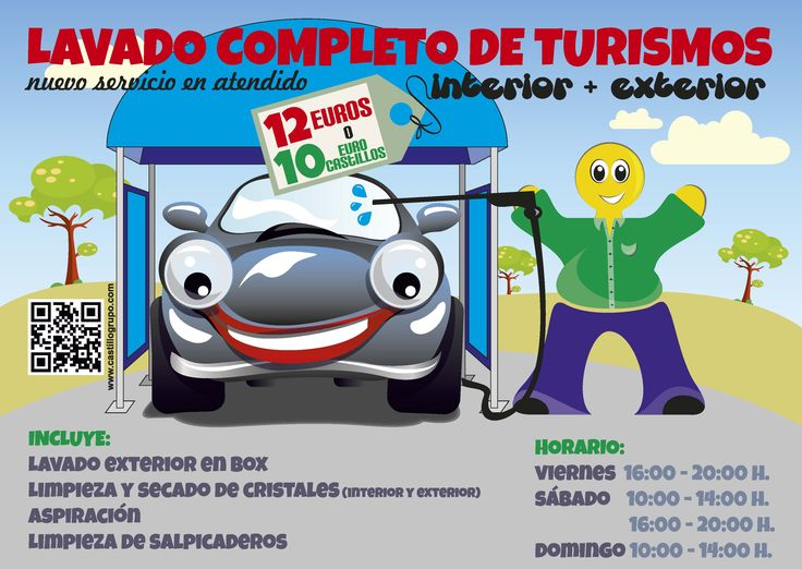 Servicio de lavado completo de turismos (interior y exterior) en Castillo Benavente http://www.castillogrupo.com