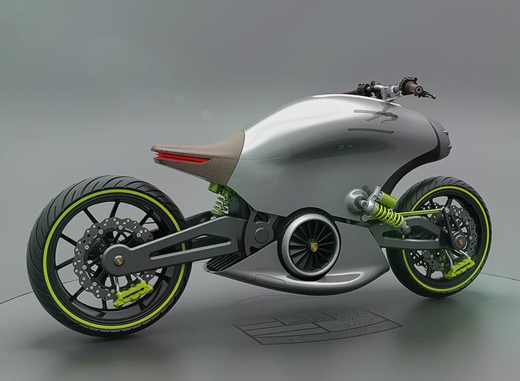 dubbed the 618, this futuristic motorcycle concept depicts the future of automotive brand porsche.