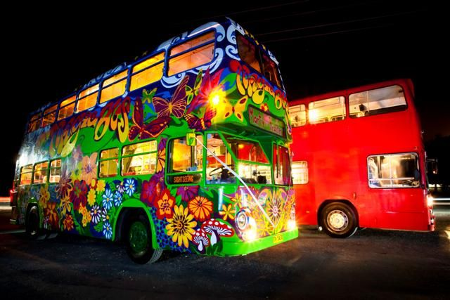 Byron Bay Double Decker fleet...home of the Magic Bus! Your Wedding Guests will have a ball on the way to your wedding, arriving ready to party!!