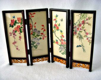 Asian Table top folding screen