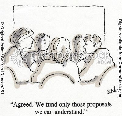 "A little grant writing humor, but based in such truth. ""Fund only those proposals we can understand."" #grantchat"