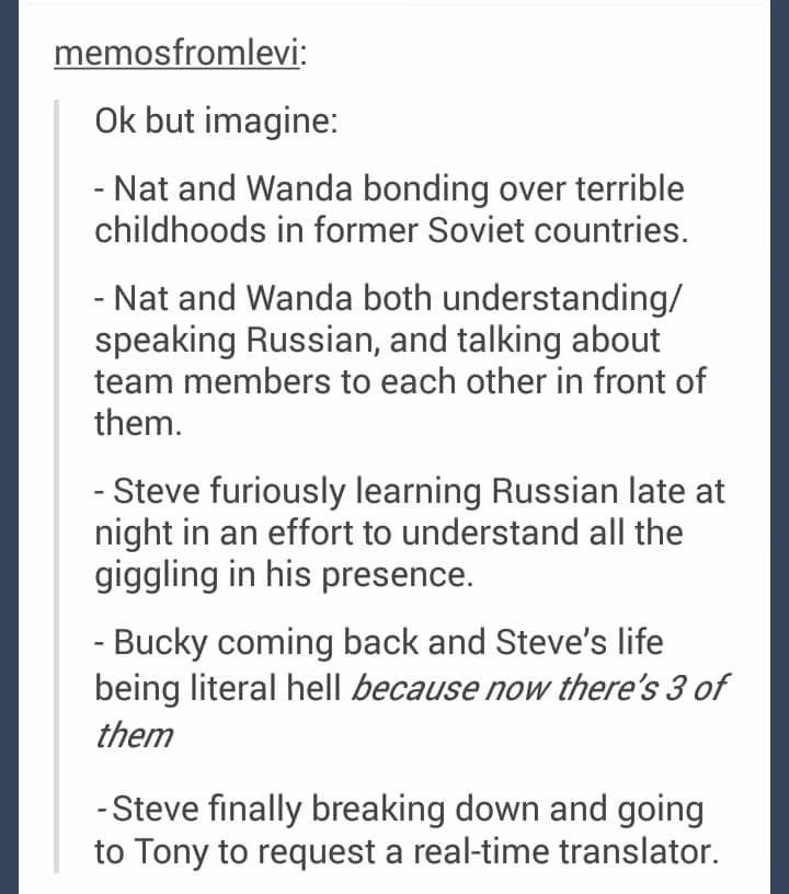 Except that as Captain America fighting in World War 2, there's probably a very good chance he has fought along side Russians. So there's a good chance he already knows how to speak Russian.