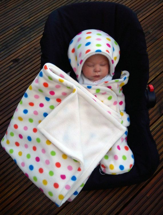 Car Seat Cosy Wrap Swaddle Blanket Baby Cream With By SiennaChic 3499