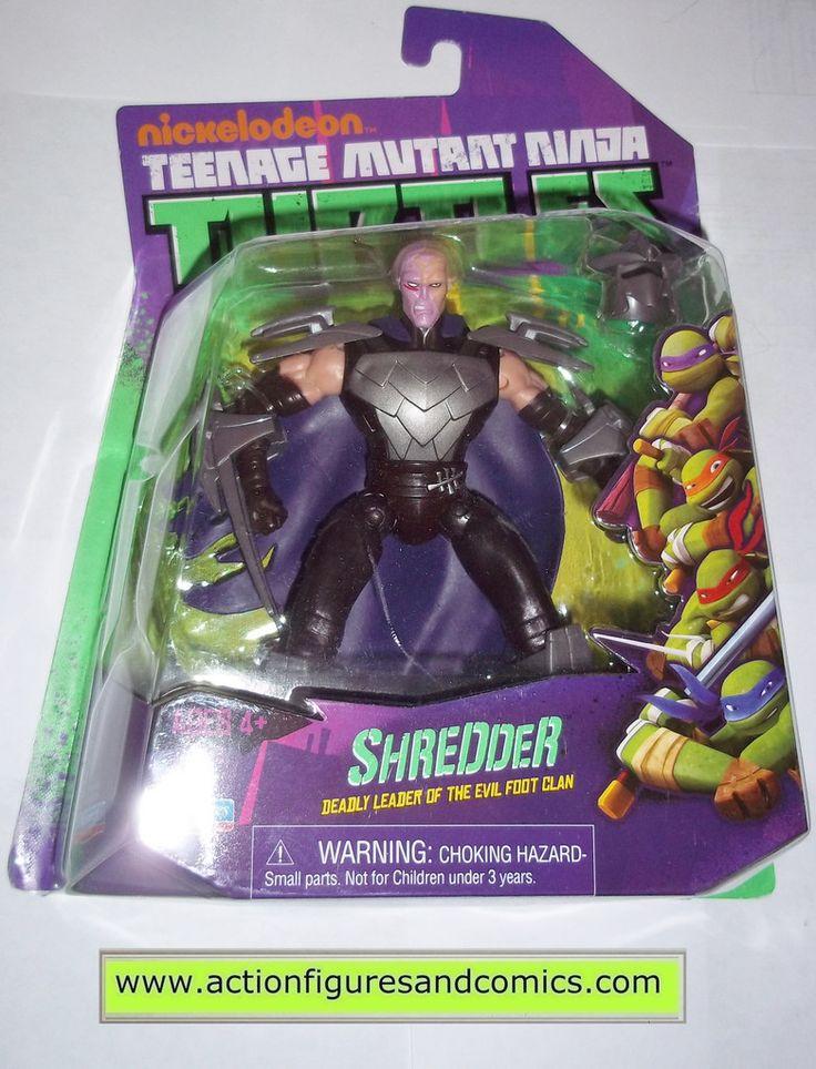 teenage mutant ninja turtles SHREDDER unmasked 2012 Nickelodeon playmates toys mib moc mip tmnt