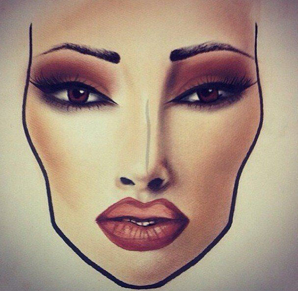 mac face charts | MAC face chart inspired look: Burgundy and Orange