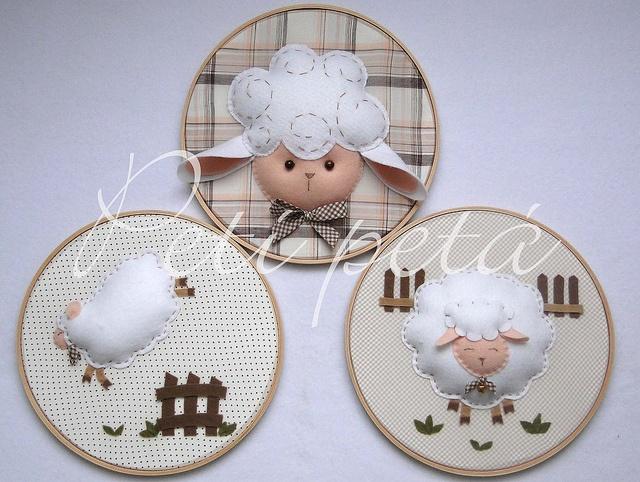 .si te cuesta dormir....... a contar ovejitas!!..... 3 bastidores en combinación
