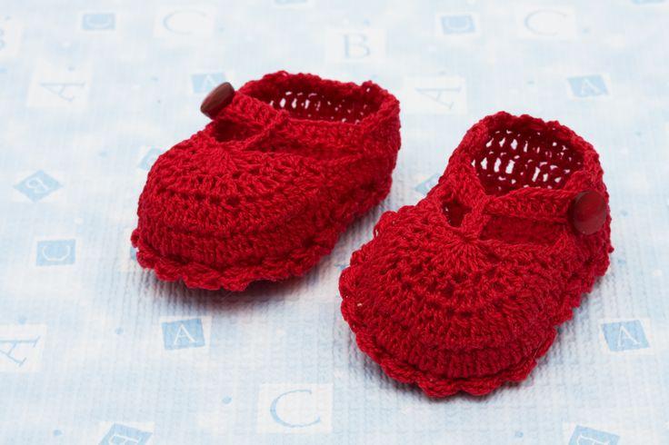 Zapatos en crochet para bebés - Mis tejidos