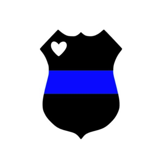 Police Badge thin blue line car decal laptop decal by SAWTHESIGN