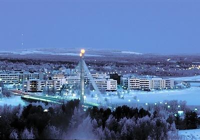 Santa Claus' Village on the Arctic Circle in Joulupukki, Lapland, Finland.