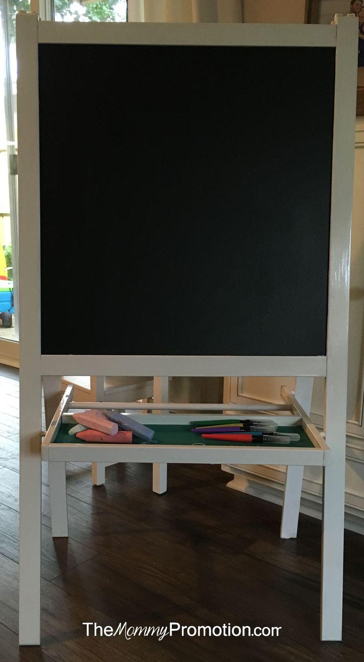 ikea hack mala easel chalkboard paint the mommy promotion art corner pinterest art. Black Bedroom Furniture Sets. Home Design Ideas
