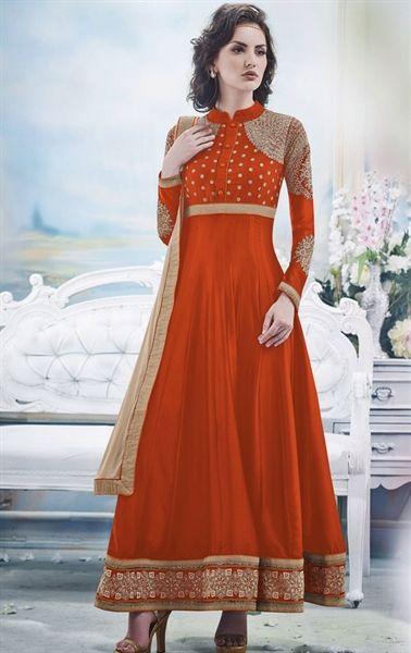 Picture of Fancy Crimson Latest Wedding Salwar Kameez