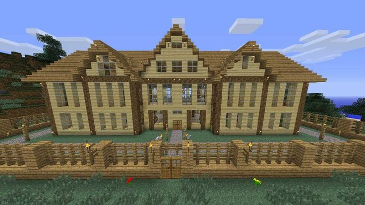 How to build a big wooden house http://tominecraft.com/how-to-build-a-big-wooden-house/
