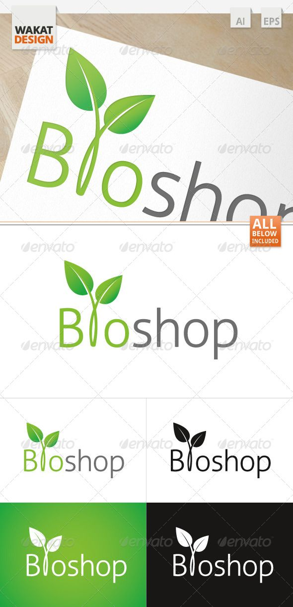 Logo Bioshop  #GraphicRiver         	 100 % Vector | Print Ready | CMYK | 300 dpi * 	  Used Fonts:   .fontsquirrel /fonts/Aller Easy color change:  All colors are global, therefore any color can be changed with only some clicks. Pack included:  AI  EPS CS  If you have any questions or need help, please contact me!   Please rate if you like.