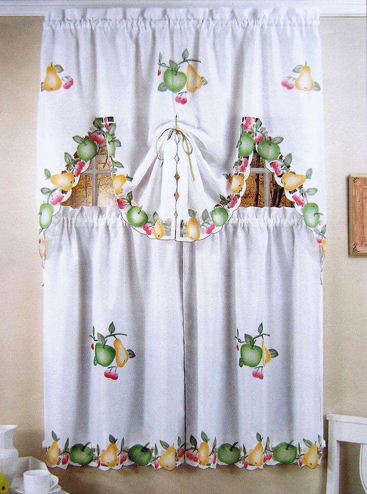 M s de 25 ideas incre bles sobre cortinas pintadas en for Cortinas para cocina fotos