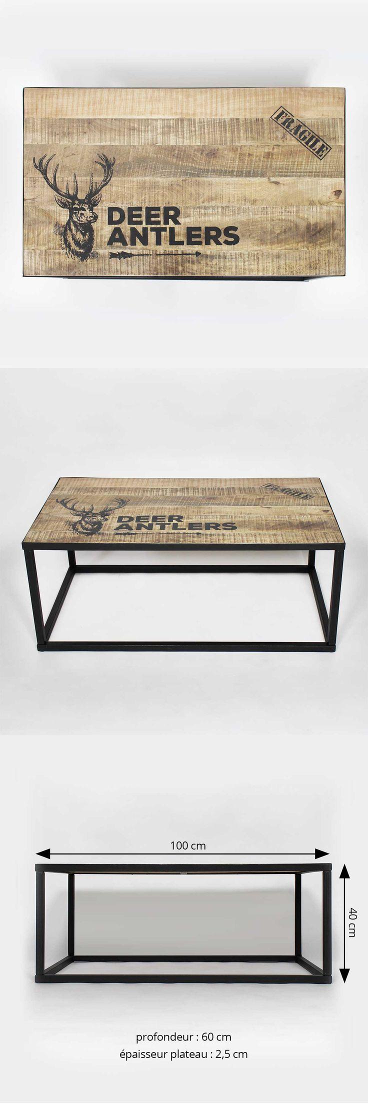 Les 25 meilleures id es de la cat gorie tables basses - Table basse bois et noir ...